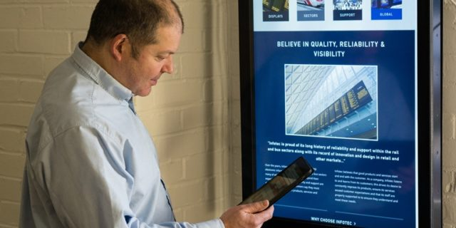 Infotec manufacture and supply passenger information displays