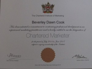 Chartered Marketer 2015