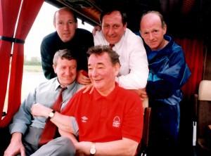 Liam O'Kane, Alan Hill, Archie Gemmill, Roy Fenton & Brian Clough