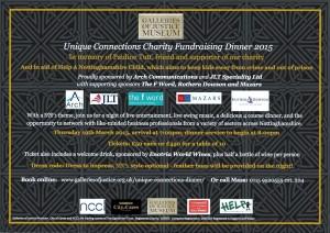 Unique Connections Charity Banquet Invite 2015