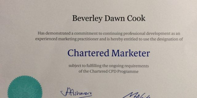2016 Chartered Marketer Certificate