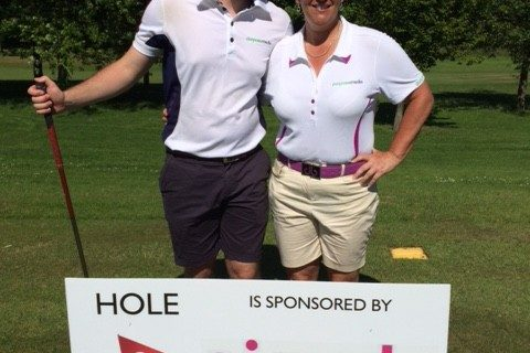 Simple Marketing Consultancy Sponsor board at DCCC Golf Day
