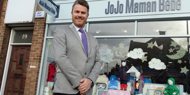 David Brighton outside new West Bridgford Store low res
