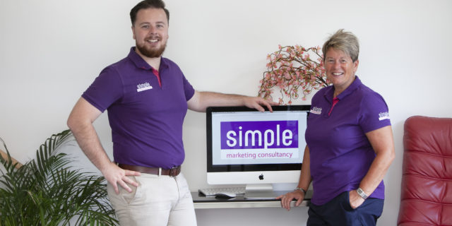 Elliot Cook & Bev Cook from Simple Marketting consultancy in Nottingham